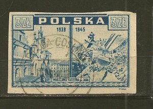 Poland 375 Imperforated Used