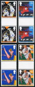 SG1564/7 1991 World Student Games set in Gutter Pairs U/M