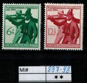 Deutschland Reich TR02 DR Mi 897-98 1939 Reich Postfrisch ** MNH