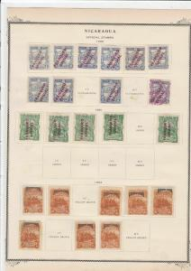 nicaragua 1890 official stamps on page ref r9135