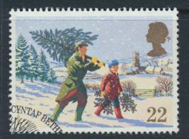 Great Britain  SG 1527 SC# 1341 Used / FU with First Day Cancel - Christmas 1990