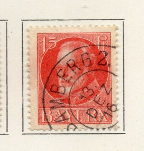 Bayern Bavaria 1914-18 Early Issue Fine Used 15pf. NW-120712