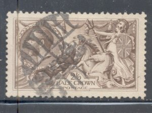 Great Britain Sc 179 1919 2/6d G V & Seahorses stamp used
