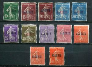 Algeria SC# 8, 11-3, 16, 19, 23-4, 26-7, 29 Sower  Issues of France o/p MH