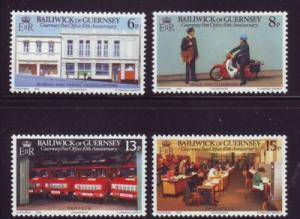 Guernsey Sc 195-8 1979 Postal anniversary stamps mint NH