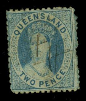 Queensland #449H UsEd Fine Small Creases Cat$700
