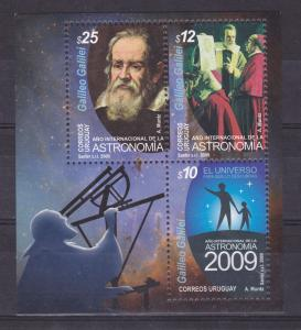 Science Astronomy telescope Galileo Galilei stars  URUGUAY Sc#2263 MNH STAMP
