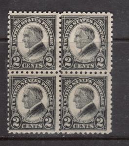 USA #612 Mint Block Variety Scarce Double Paper Original Gum Hinged