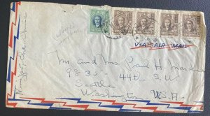 1948 Ninghisien China Inflation Rate Airmail Cover To Washington DC USA