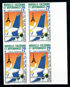 [I1868] New-Caledonia 1986 Airmail Planes good bloc of 4 stamps VF MNH imperf