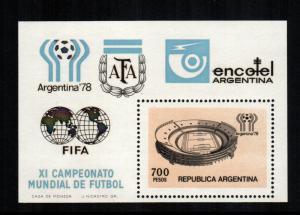 Argentina 1192 sheet MNH cat $ 2.75 aaa