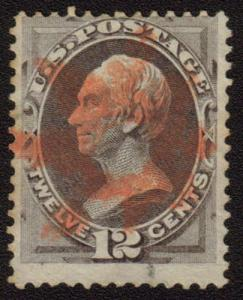 MALACK 151 Fine, bright fancy red cancel,  fresh stamp n7997