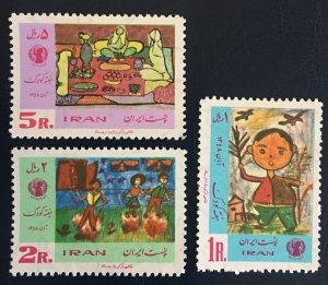 Middle East,worldwide,p,1969  MNH** ,shah, Children Week, Painting, Art,