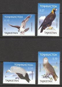Tajikistan Sc# 161-164 MNH 2001 Birds of Prey