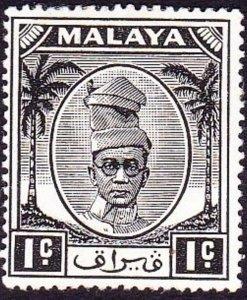 MALAYA PERAK 1950 1c Black SG128 MH