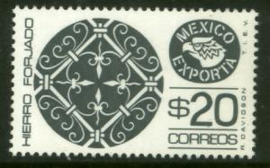 MEXICO Exporta 1128, $20P Wrought Iron Fluor Paper 7 MINT, NH. VF.