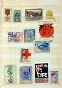 France Old/Modern MH MNH Poster Labels (Appx 70) (NT 3421