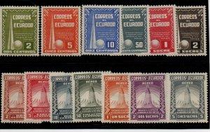 Ecuador 388-93, C80-6 Set. Mint Hinged
