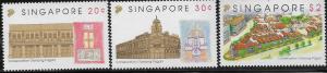 SINGAPORE,650-652, MNH, CONSERVATION