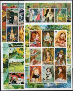 Niger 1998 FRENCH FAMOUS PAINTINGS PHILEXFRANCE'98 36v Perforated Mint (NH)
