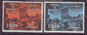 J24054 JLstamps 1965 lebanon set mnh #429-30 temple