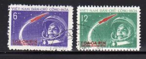 North Vietnam 160-161 Set U Yuri Gagarian's Space Flight (D)