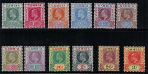 Gambia 1902-1905 28-39 Set LH CV$274.75 - King Eduard VII