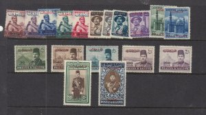 PALESTINE (MK7089) # N15-19,N39-49 + VF-MH  EGYPTIAN ISSUE OVERPRINTS CV $34