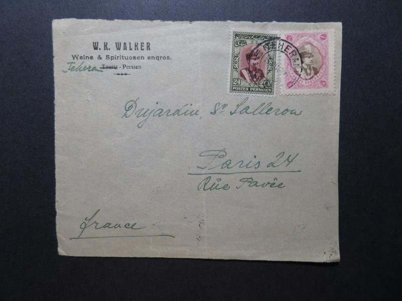 Persia 1929 Cover to Paris / Fold / FRONT ONLY / US SHIPPING ONLY - Z11625