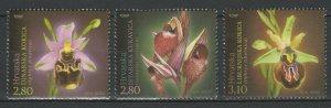 Croatia 2014 Flowers 3 MNH Stamps