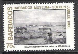 Barbados #621 Museum Paintings MNH