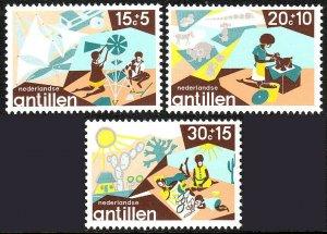 Netherlands Antilles B137-B139, MNH. Child Welfare. Toys, 1975