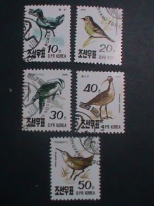 KOREA-1990 SC#2957-61-BEAUTIFUL LOVELY BIRDS CTO SET VERY FINE