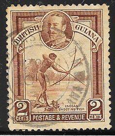 British Guiana 211 Used - Indian Shooting Fish - George V