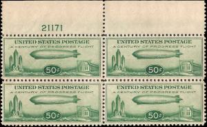C18 Mint,OG,NH... Block of 4 w/Plate#... SCV $300.00
