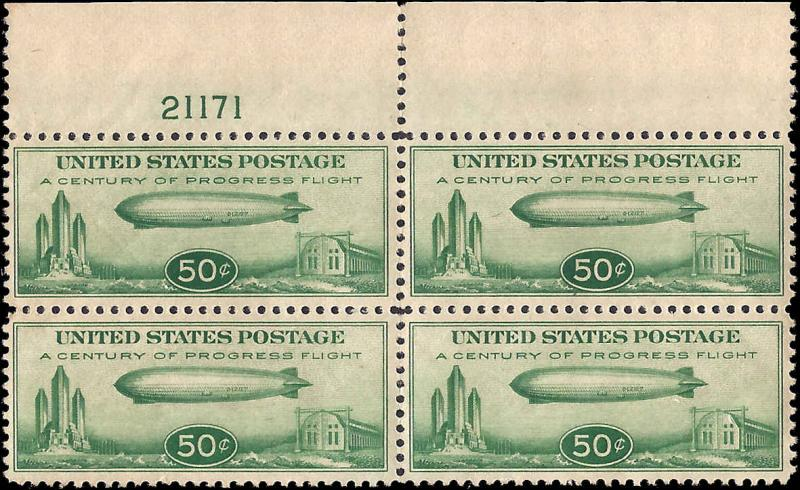 C18 Mint,OG,NH... Block of 4 w/Plate#... SCV $300.00