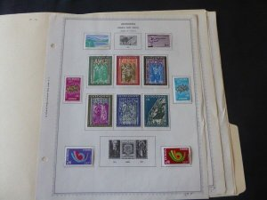 French Andorra 1972-1980 Stamp Collection on Alb Pgs