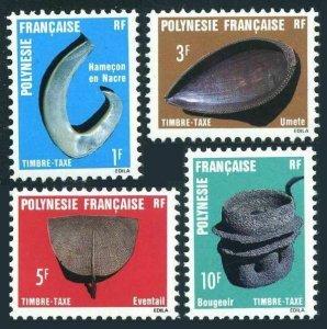 Fr Polynesia J31-J34,MNH. Michel P4-P7. Postage Due Stamps 1984.