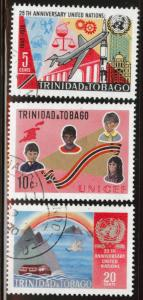 Trinidad & Tobago Scott 183-185 used CTO UN set