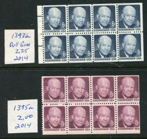 #1393a, 1395a MNH. 1970-71 6c + 8c Eisenhower  Booklet Panes  ⭐⭐⭐⭐⭐⭐