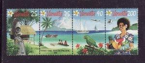 Vanuatu-Sc#636-Unused NH strip-Tourism-1994-