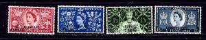 Kuwait 113-16 MLH 1953 QEII Coronation set overprinted