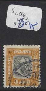 ICELAND   (PP1607B)    OFFICIAL  SC O31     VFU