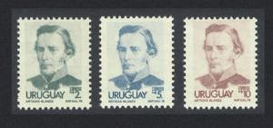 Uruguay Artigas Definitives 3v the Highest Values SG#1649-1651a