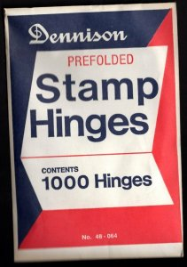 1 UNOPENED PACK OF 1000 DENNISON PRE-FOLDED HINGES only $15.85 Free shipping