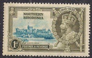 Northern Rhodesia 1935 KGV 1d Silver Jubilee MM SG 18  ( D988 )