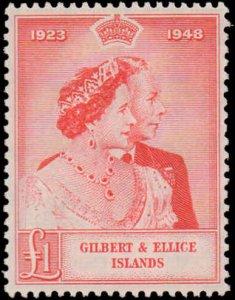 1949 Gilbert & Ellice Islands #54-55, Complete Set(2), Never Hinged