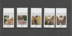 OMAN: #02-2019 / Unlisted /**OMAN'S IRRIGATION SYSTEM** /  Set of 5 / MNH.
