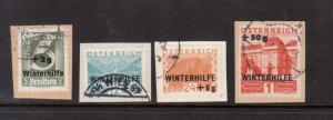 Austria #B118 - #B121 VF Used On Piece
