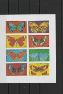 republic equatorial guinea collectable  butterfly imperf stamps sheet ref r12337